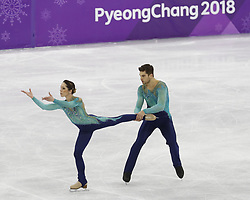 February 15, 2018 - Pyeongchang, KOREA - Nicole Della Monica and Matteo Guarise of Italy compete in pairs free skating during the Pyeongchang 2018 Olympic Winter Games at Gangneung Ice Arena. (Credit Image: © David McIntyre via ZUMA Wire)