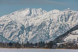 """THEMENBILD - das winterliche Bergmassiv """"Steinerne Meer"""" in Saalfelden, aufgenommen am 06. Februar 2020 in Zell am See, Oesterreich // the winterly mountain massif """"Steinerne Meer"""" in Saalfelden, in Zell am See, Austria on 2020/02/06. EXPA Pictures © 2020, PhotoCredit: EXPA/Stefanie Oberhauser"""