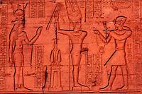 Hieroglyphics, Kom Ombo archaeological site (on the Nile River), Egypt