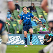 DUBLIN, IRELAND:  September 25:   Jonathan Sexton<br />  #10 of Leinster convert a try during the Leinster V Bulls United Rugby Championship match at Aviva Stadium on September 25th, 2021 in Dublin, Ireland. (Photo by Tim Clayton/Corbis via Getty Images)