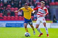 Josh Cullen of Charlton Athletic (24) in action during the EFL Sky Bet League 1 play off first leg match between Doncaster Rovers and Charlton Athletic at the Keepmoat Stadium, Doncaster, England on 12 May 2019.