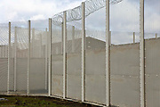 The perimeter fence. HMP Send, closed female prison. Ripley, Surrey.