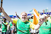 22/11/2015  repro fee. A group of  irish people travelled with Gorta-Self Help Africa travelled to the capital of Ethiopia Addis Ababa for the great Ethiopian run. In temperatures in the mid 30 degree heat and 40,000 people and a city at 7,500 feet above sea level, it's no mean feat. Ronan Scully, Gorta Self Help Africa at the end of the race   .  Photo:Andrew Downes.