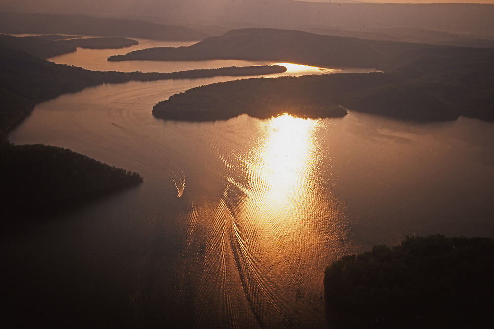 PA landscapes, Pennsylvania, Raystown Lake, sunset