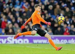 """Brighton & Hove Albion goalkeeper Mathew Ryan during the Premier League match at the AMEX Stadium, Brighton. PRESS ASSOCIATION Photo. Picture date: Saturday December 16, 2017. See PA story SOCCER Brighton. Photo credit should read: Gareth Fuller/PA Wire. RESTRICTIONS: EDITORIAL USE ONLY No use with unauthorised audio, video, data, fixture lists, club/league logos or """"live"""" services. Online in-match use limited to 75 images, no video emulation. No use in betting, games or single club/league/player publications."""