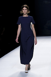 September 16, 2016 - Madrid, Spain - A model showcases designs by Devota & Lomba on the runway at the Ailanto show during Mercedes-Benz Fashion Week Madrid Spring/Summer 2017 at Ifema on September 16, 2016 in Madrid, Spain. (Credit Image: © Oscar Gonzalez/NurPhoto via ZUMA Press)