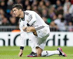 06-11-2012 VOETBAL: UEFA CL REAL MADRID - BORUSSIA DORTMUND: MADRID<br /> Cristiano Ronaldo <br /> ***NETHERLANDS ONLY***<br /> ©2012-FotoHoogendoorn.nl