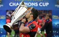 Rugby Union - 2017 European Rugby Champions Cup Final - Clermont Auvergne vs. Saracens<br /> <br /> Brad Brarritt of Saracens celebrates after the Champions Cup Final at Murrayfield.<br /> <br /> COLORSPORT/LYNNE CAMERON