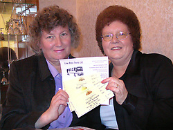 Julia Hodson and Denise Stickland, who both went on a coach trip to see Cliff Richards at the Royal Albert Hall with the tickets for the night and the answer to thier letter of complaint.