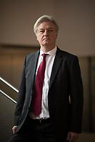 DEU, Deutschland, Germany, Arnstadt, 18.02.2017: Portrait Jürgen Elsässer, Chefredakteur des Magazins Compact, Landeswahlversammlung der Partei Alternative für Deutschland (AfD) in Thüringen.