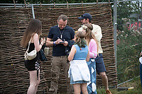 Simon Pegg at the Big Feastival 2021 on Alex James' Cotswolds farm, Kingham  oxfordshire