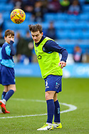 Wycombe Wanderers midfielder Dominic Gape(4) warms up during the EFL Sky Bet League 1 match between Wycombe Wanderers and Plymouth Argyle at Adams Park, High Wycombe, England on 26 January 2019.