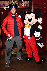 Tom Hardy comes face to face with the main man himself at the Meet Mickey Mouse attraction during the launch of Star Wars: Season Of The Force at Disneyland, Paris on January 21, 2017. Photo by Jon Furniss/Disney/ABACAPRESS.COM