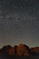 Milky Way Galaxy Over Sandstone Formations at Night, Valley of Fire State Park, Nevada