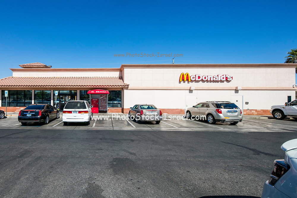 McDonald drive thru restaurant, Las Vegas, Nevada, USA