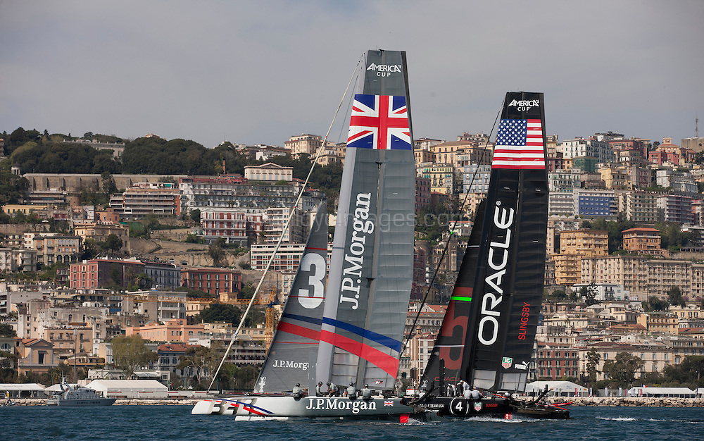 America's Cup World Series Naples / ACWS Naples. Italy. The J.P.Morgan BAR AC45 skippered by Ben Ainslie.Please credit: Lloyd Images