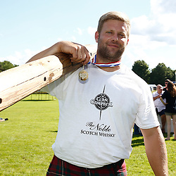 Inveraray Highland Games. Competitions include Piping, Highland Dancing, Heavy and Light events as well as the World Caber Tossing Championship.  Scott Rider is the 2016 World Caber Tossing Champion. (c) Stephen Lawson | Edinburgh Elite media