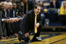 Jan 9, 2018; Morgantown, WV, USA; Baylor Bears head coach Scott Drew calls out a play during the second half against the West Virginia Mountaineers at WVU Coliseum. Mandatory Credit: Ben Queen-USA TODAY Sports