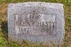 Stouts Grove Cemetery<br /> <br /> Hasty - Glen F Hasty 1887-1944, US Navy