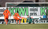 Tippeligaen 2013<br /> 07.04.2013<br /> Sandnes Ulf - FK Haugesund.<br /> Sandnes Stadion.<br /> Foto : Simon Rogers, Digital Sport.<br /> <br /> Sandnes Ulf : Sean McDermott.<br /> Haugesund : Maic Sema