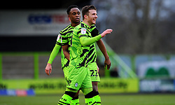 Nicky Cadden of Forest Green Rovers celebrates goal after making it 1-0- Mandatory by-line: Nizaam Jones/JMP - 16/01/2021 - FOOTBALL - innocent New Lawn Stadium - Nailsworth, England - Forest Green Rovers v Port Vale - Sky Bet League Two