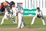 Matt Parkinson batting during the Specsavers County Champ Div 2 match between Leicestershire County Cricket Club and Lancashire County Cricket Club at the Fischer County Ground, Grace Road, Leicester, United Kingdom on 25 September 2019.