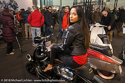 The Lowride Magazine Custom Scooter Show during Motor Bike Expo. Verona, Italy. January 23, 2016.  Photography ©2016 Michael Lichter.