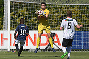 Hawke's Bay United Alex Britton makes a save in the Handa Premiership football match, Hawke's Bay v Auckland, Bluewater Stadium, Napier, Sunday, January 20, 2019. Copyright photo: Kerry Marshall / www.photosport.nz