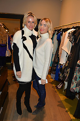 Left to right, LINDA ASHLEY ex wife of Mike Ashley owner of Newcastle United FC and CAROLINE STANBURY at the Salt Store VIP Shopping event at 77 Eliabeth Street, London on 2nd December 2015.