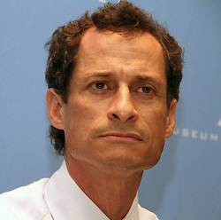 May 19, 2017 - File Photo - Former Rep. ANTHONY WEINER pleaded guilty Friday to transferring obscene material to a minor and will register as a sex offender.'I accept full responsibility for my conduct. I have a sickness, but I do not have an excuse,' Weiner said through pauses and bouts of tears in an emotional statement. 'I entered intensive treatment.' As part of the plea agreement, he also will have to forfeit his iPhone, surrender his passport, continue mental health treatment and is barred from having any contact with the girl. Pictured: Aug. 14, 2013 - New York, New York, U.S. - Democratic candidate for NYC mayor Anthony Weiner attends the New York City Mayoral Forum on.Cultural Sensitivity & Tolerance held at the Museum of Tolerance. (Credit Image: © Nancy Kaszerman/ZUMAPRESS.com)