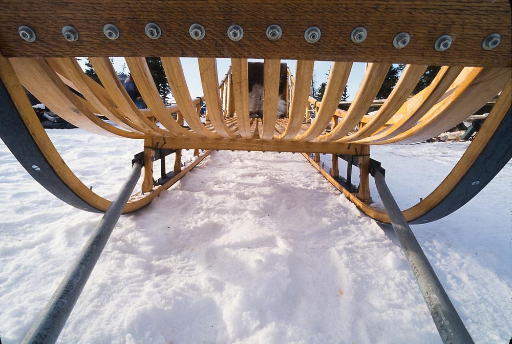 Cargo sled constructed by Don Smith, Kobuk River Valley, Kiana, Alaska, USA