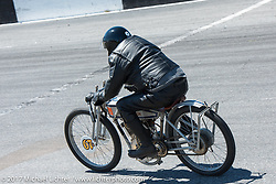 Bill Rodencal, the Harley-Davidson Museum Archives Motorcycle Restorer, riding his 1915 Harley-Davidson Model 11-K twin cylinder racer in Billy Lane's Son's of Speed race during Daytona Bike Week. New Smyrna Beach, FL. USA. Saturday March 18, 2017. Photography ©2017 Michael Lichter