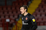 Walsall goalkeeper Liam Roberts (#1) during the EFL Sky Bet League 2 match between Crawley Town and Walsall at The People's Pension Stadium, Crawley, England on 16 March 2021.