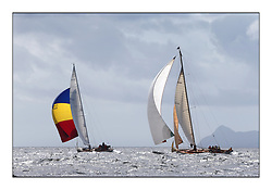 Day five of the Fife Regatta, Race from Portavadie on Loch Fyne to Largs. <br /> <br /> Sonata, Patrick  Caiger-Smith, GBR, Bermudan Sloop, Wm Fife 3rd, 1950, Solway Maid, Roger Sandiford, GBR, Bermudan Cutter, Wm Fife 3rd, 1940<br /> * The William Fife designed Yachts return to the birthplace of these historic yachts, the Scotland's pre-eminent yacht designer and builder for the 4th Fife Regatta on the Clyde 28th June–5th July 2013<br /> <br /> More information is available on the website: www.fiferegatta.com