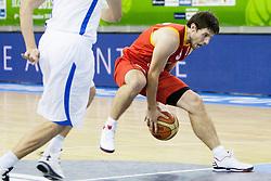 Sam Van Rossom #5 of Belgium during basketball match between National teams of Israel and Belgium at Day 5 of Eurobasket 2013 on September 8, 2013 in Tivoli Hall, Ljubljana, Slovenia. (Photo By Urban Urbanc / Sportida)