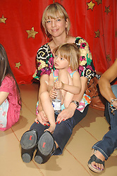 Radio presenter SARA COX and her daughter LOLA at a children's ballet workshop and tea party to celebrate the world premiere of 'Angelina's Star Performance' Angelina Ballerina's first real life ballet hosted by the National Ballet at the New Wimbledon Theatre, London SW19 on 6th September 2007.<br /><br />NON EXCLUSIVE - WORLD RIGHTS