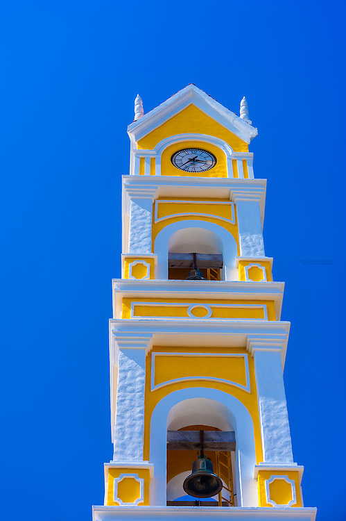 Church tower, Xcaret Park (Eco-archaeological Theme park), Riviera Maya, Quintana Roo, Mexico