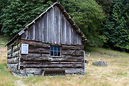 """This building is called """"The Forge"""".  This is the oldest farm building at Ruckle Farm and was constructed by Henry Ruckle in 1878.  Photographed in Ruckle Provincial Park on Saltspring Island, British Columbia, Canada."""