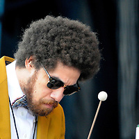 Danger Mouse ( Brian Burton ) of Gnarls Barkley performs at the New American Music Union in Pittsburgh, PA on August 9, 2009.