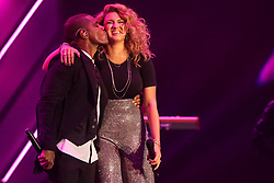 October 16, 2018 - Nashville, TN, U.S. - NASHVILLE, TN - OCTOBER 16: Kirk Franklin and Tori Kelly perform during the 49th Annual Dove Awards on October 16, 2018, at Allen Arena in Nashville, TN. (Photo by Jamie Gilliam/Icon Sportswire) (Credit Image: © Jamie Gilliam/Icon SMI via ZUMA Press)