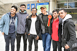 Clive Lewis MP with University of East Anglia students who are protesting at the university's decision to shut the Muslim prayer room, just a few days before Ramadan starts and during the exam season. The Multi-Faith Centre is not a suitable alternative. Norwich 19 May 2017