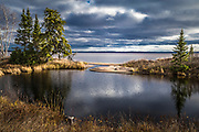 Pointe-Taillon National Park on the Lake St. Jean shores.