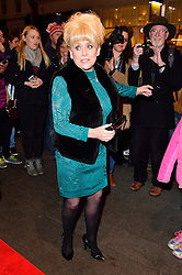 © Licensed to London News Pictures. 16/02/2016. DAME BARBARA WINDSOR arrives for the press night of Mrs Henderson Presents press night at the Noel Coward Theatre. London, UK. Photo credit: Ray Tang/LNP