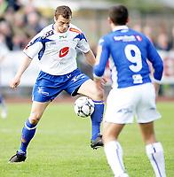 Fotball , <br /> Adeccoligaen , <br /> 04.05.08 , <br /> Sarpsborg stadion , <br /> Sarpsborg Sparta FK - FK Haugesund , <br /> Camron Weaver , <br /> Berat Jusufi , <br /> Foto: Thomas Andersen / Digitalsport