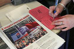 March 30, 2019 - Riga, Latvia, Latvia - Latvia, Riga, 30.03.2019. The second Parents 'meeting organized in Riga by the Russian Union of Latvia and the parents' Community. The purpose of the Meeting is to put forward demands to the Ministry of education to rectify the situation in the school system. (Credit Image: © Russian Look via ZUMA Wire)