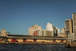 Vista o Grupamento de Busca e Salvamento do Corpo de Bombeiros da Brigada Militar do RS (CBMRS) localizado no armazém C1 do Cais Mauá, na zona portuária de Porto Alegre. Esta área do cais, composta por 16 armazéns e 3 docas em uma extensão de 3.240m de comprimento, é administrada pela Superintendência de Portos e Hidrovias (SPH) e está arrendada para um polêmico projeto de revitalização que prevê mais de 181 mil m² dedicados a cultura, lazer, gastronomia, turismo, negócios e eventos. FOTO: Gustavo Roth / Agência Preview