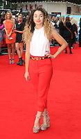 Ella Eyre, What If - UK Film Premiere, Leicester Square, London UK, 12 August 2014, Photo by Richard Goldschmidt