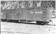 """Box car #3409<br /> D&RGW  Silverton, CO  Taken by Best, Gerald M. - 7/3/1939<br /> In book """"Narrow Gauge Pictorial, Vol. III: Gondolas, Boxcars and Flatcars of the D&RGW"""" page 131"""