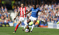 Football - 2017 / 2018 Premier League - Everton vs. Stoke City<br /> <br /> Cuco Martina of Everton and Geoff Cameron of Stoke City  at Goodison Park.<br /> <br /> COLORSPORT/LYNNE CAMERON