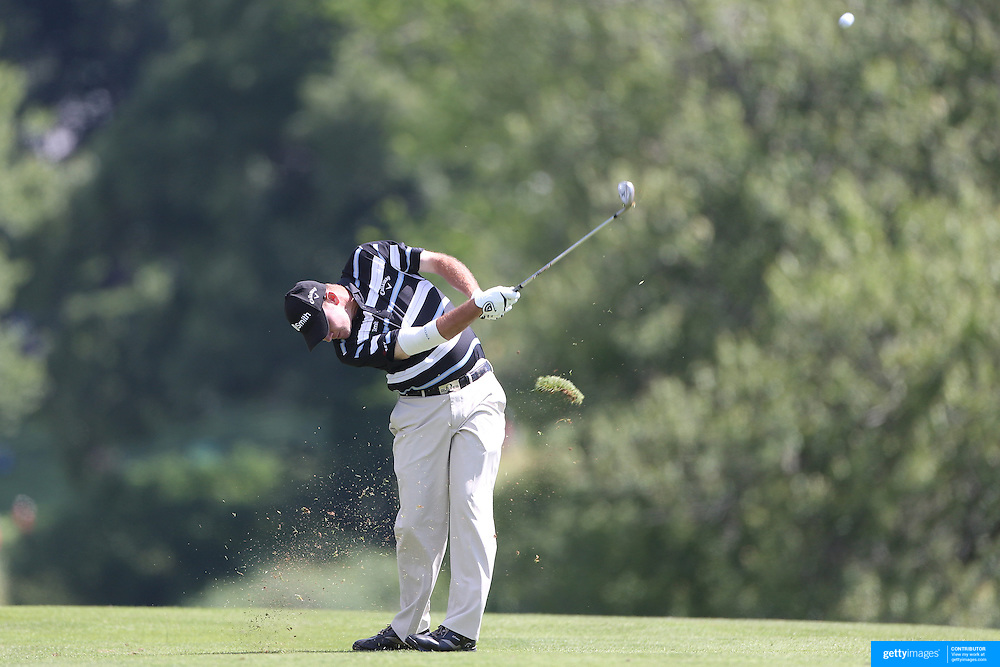 Tommy Gainey, USA, in action during the second round of the Travelers Championship at the TPC River Highlands, Cromwell, Connecticut, USA. 20th June 2014. Photo Tim Clayton